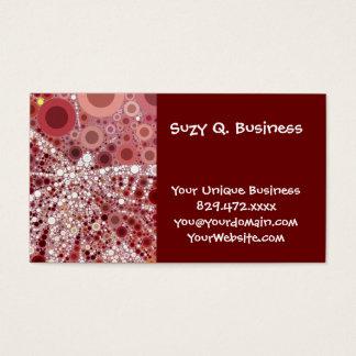 Unique Butterfly Dragonfly Mosaic Mauve Color Business Card