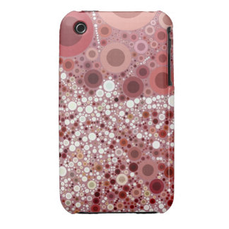 Unique Butterfly Dragonfly Mosaic Mauve Color iPhone 3 Cover