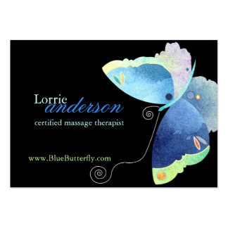 Unique Butterfly Massage Therapist Business Cards