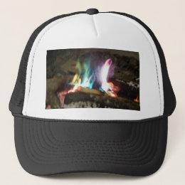 Unique Campfire Flames Of Color Trucker Hat