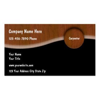 Unique Carpenter Business Cards