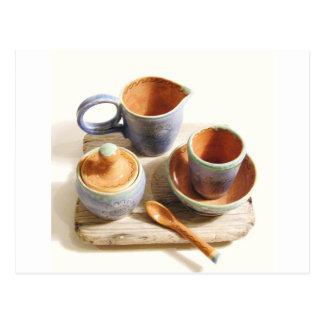 Unique ceramics postcard