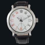 "Unique Chess Pieces Watch<br><div class=""desc"">wristwatch with chess game pieces.</div>"