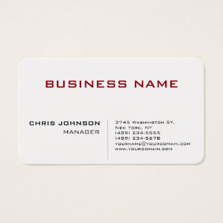 Unique Chic Manager Business Card