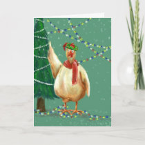 Unique Christmas card for backyard chicken lovers!