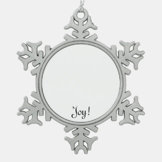 Unique Christmas gifts to customize & create fun Snowflake Pewter Christmas Ornament