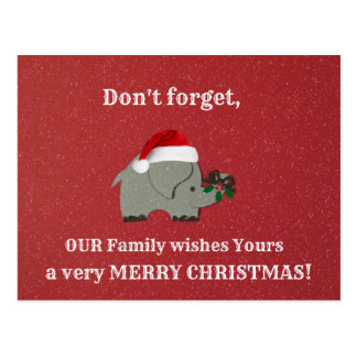 Unique Christmas greeting for friends. Postcard