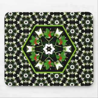 Unique Christmas Star Wreath Mousepad