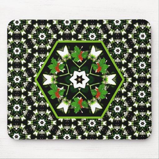 Unique Christmas Star Wreath Mousepad