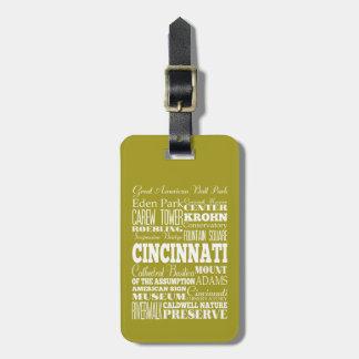 Unique Cincinnati, Ohio Gift Idea Tag For Luggage