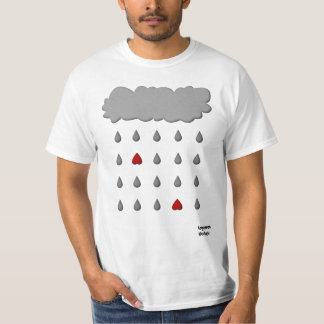Unique Cloud Raining Love T-Shirt