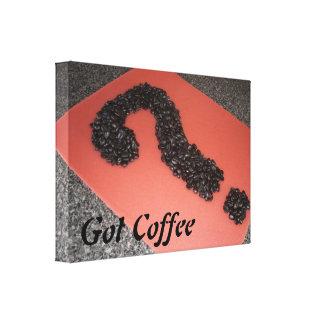 Unique Coffee Bean Art Canvas Print