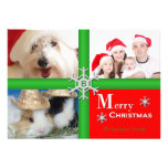 Unique Collage Family Photo Christmas Flat Card Invitations