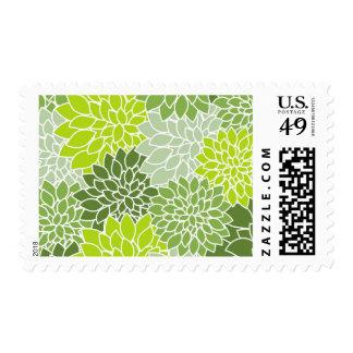 Unique Colorful Flower Luxury Vintage Stamps