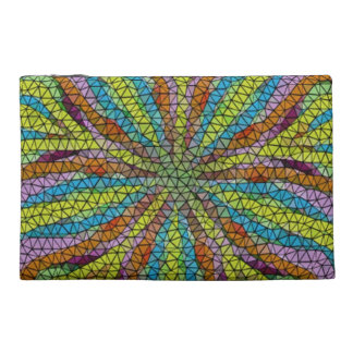 Unique colorful mosaic pattern travel accessory bag