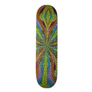 Unique colorful mosaic pattern skate boards