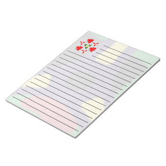 Unique colorful nice pattern note pad