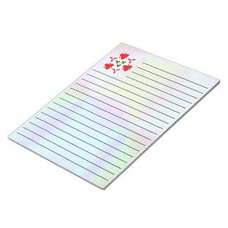 unique colorful pattern note pad