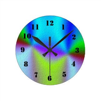 unique colorful pattern round clock