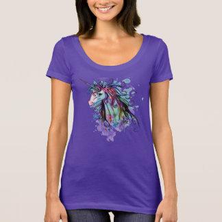 Unique Colorful Unicorn Graphic Art Design T-Shirt