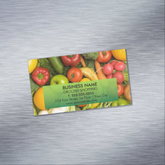 Unique Colorful Vegetables Grocery Magnetic Business Cards (Pack Of 25)