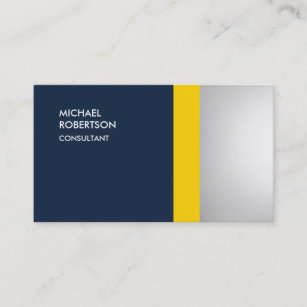 Navy blue and gray business cards zazzle unique colorful yellow navy blue gray business card colourmoves