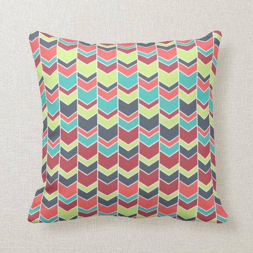 Unique Colourful Modern Chevron Pattern Throw Pillows Zazzle
