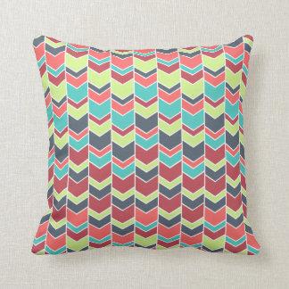Unique Colourful Modern Chevron Pattern Throw Pillow