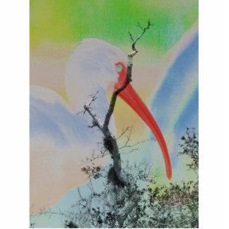 Unique combo solarized colors tree and bird photo cutout
