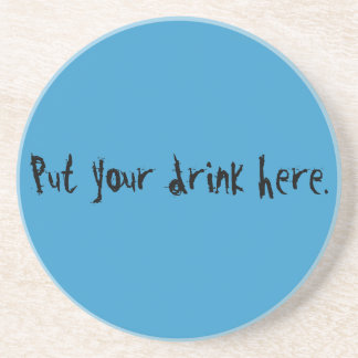 Unique cool blue gifts to customize & create fun beverage coaster