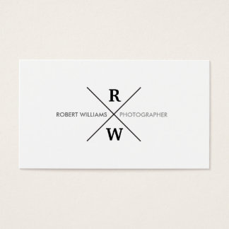 UNIQUE & COOL MODERN MONOGRAM on WHITE Business Card