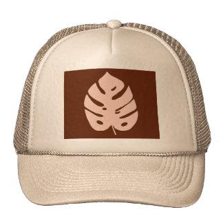 Unique Copper Monstera Tropical Plant Design Trucker Hat