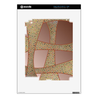Unique copper polka dots waves design decal for the iPad 2