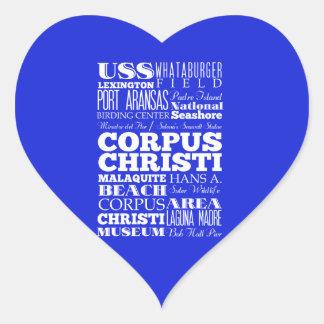 Unique Corpus Christi, Texas Gift Idea Heart Sticker