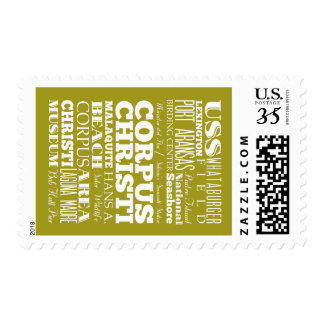 Unique Corpus Christi, Texas Gift Idea Stamps
