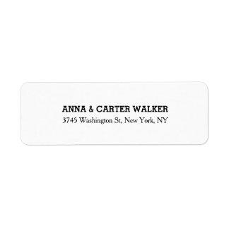 Unique Creative Plain White Stylish Family Name Label