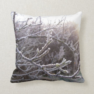 Unique cushion featuring Frosty Branches
