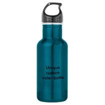 Unique custom electric blue water bottle