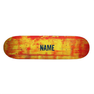 Unique Custom Red Yellow Art Abstract Skateboard