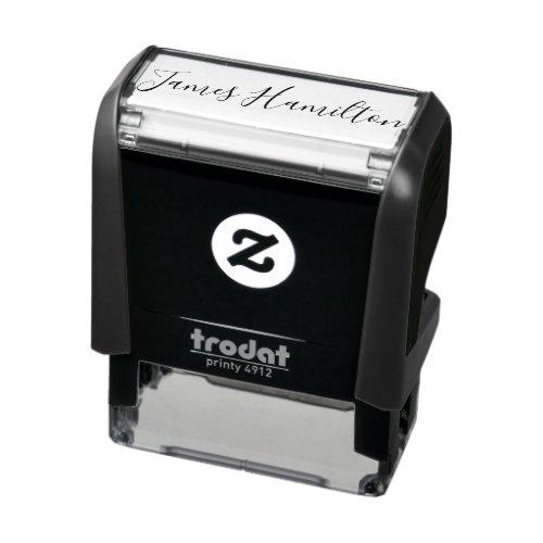 Unique Custom Signature personalized Self-inking Stamp