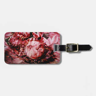 Unique Custom Vintage woman in collar Luggage Tag