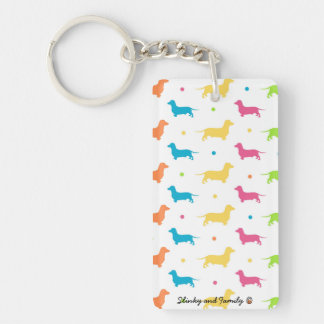 Unique Dachshund Keyring - The Funky Sausage Range Keychain