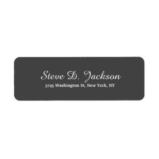 Unique Dark Grey Classical Script Creative Plain Label