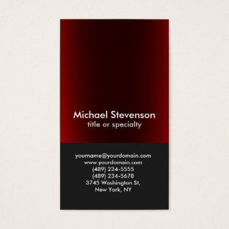 Unique Dark Grey Red Vertical Professional Business Card