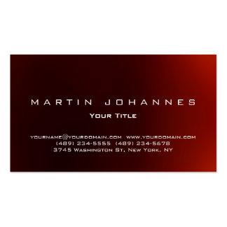 Unique dark red plain professional business card