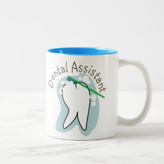 Unique Dental Assistant Gifts Two-Tone Coffee Mug