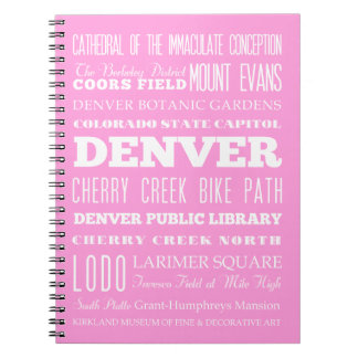 Unique Denver, Colorado Gift Idea Notebook