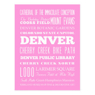 Unique Denver, Colorado Gift Idea Postcard