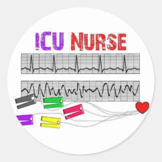 Unique Design ICU Nurse Gifts Classic Round Sticker