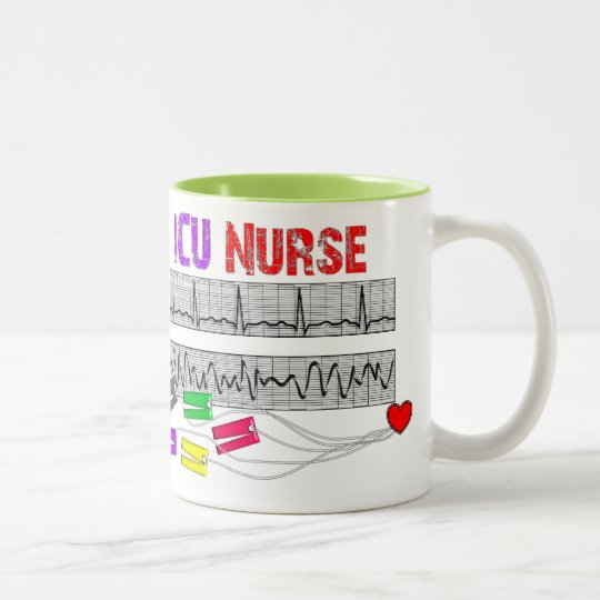Unique Design ICU Nurse Gifts Two-Tone Coffee Mug